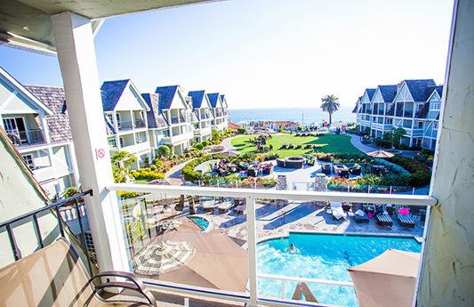Hotel Oceanview Suite balcony view